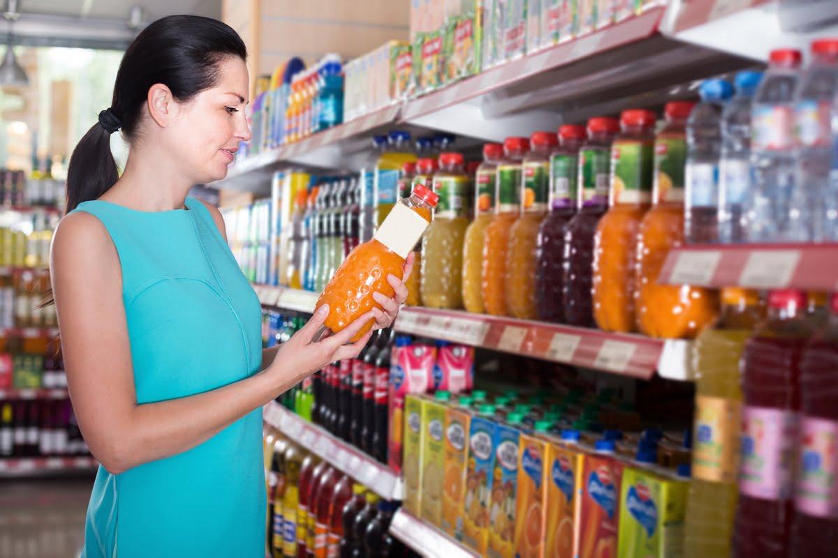 Leggere le etichette dei succhi di frutta